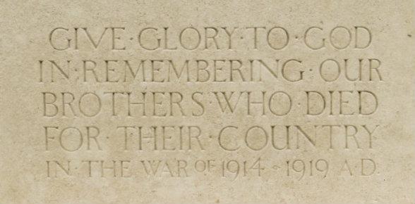 Memorial inscription blog