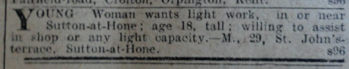 DC 14 Jan 1916 - Girl advert