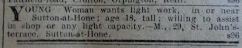 DC 14 Jan 1916 - Girl advert